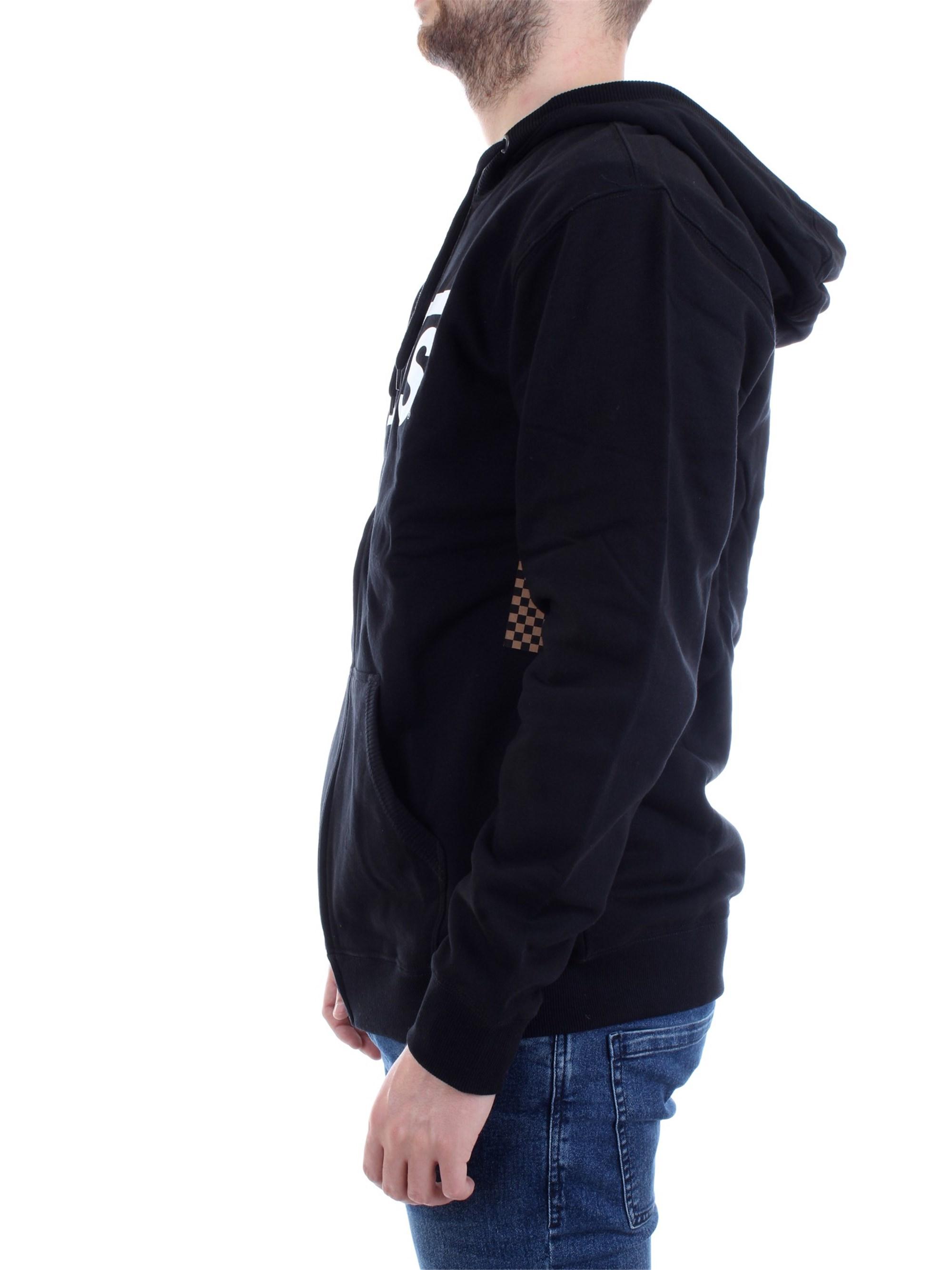 Vans Zwart sweatshirt Vn000j6ky28 katoen Klassiek Unisex zwartwit 0XwPOk8n