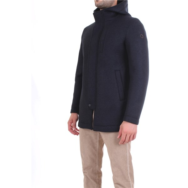 MANUEL RITZ Overcoat Blue