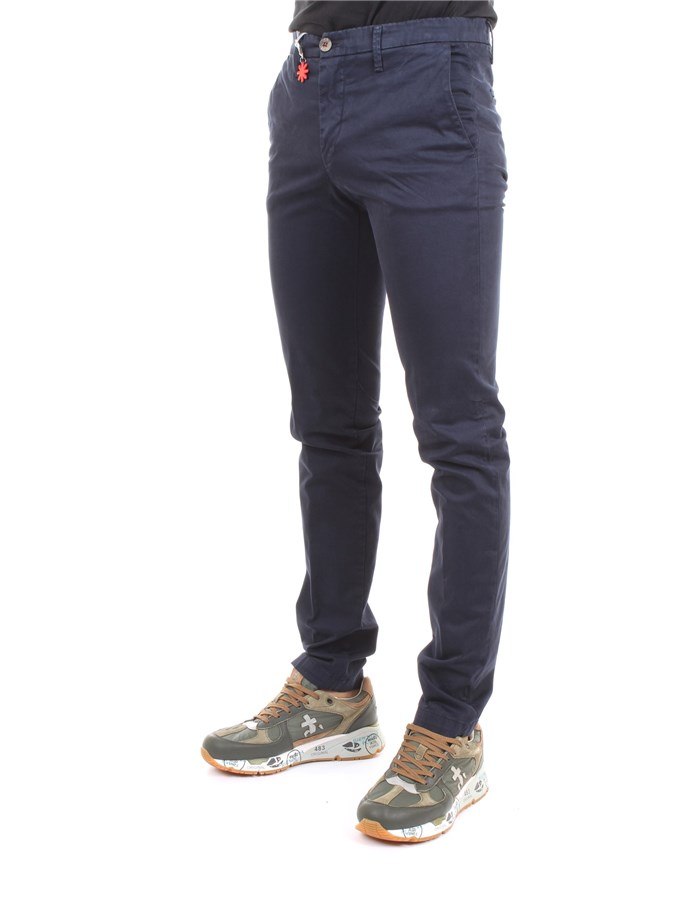 MANUEL RITZ Trousers Medium blue