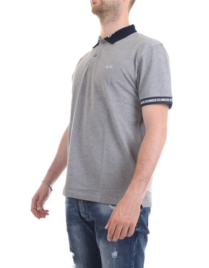 SUN68 Polo shirt Grey