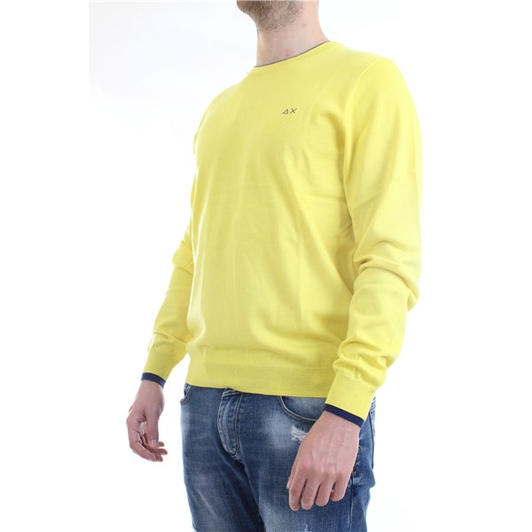 SUN68 Sweater Yellow