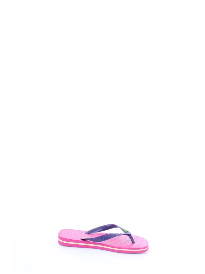 HAVAIANAS H BRASIL LOGO Violet Shoes Unisex Thongs