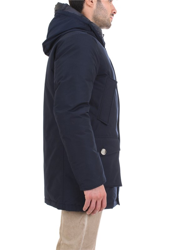 WOOLRICH WOCPS2882 Blue Clothing Man PARKA