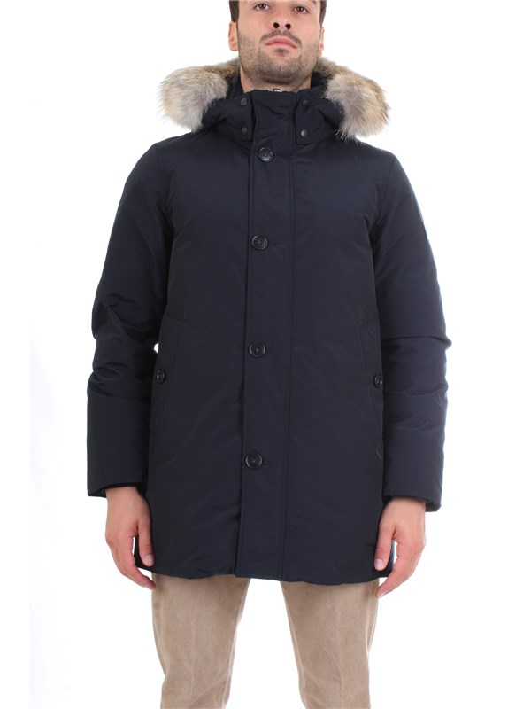 WOOLRICH WOCPS2939 Blue Clothing Man PARKA