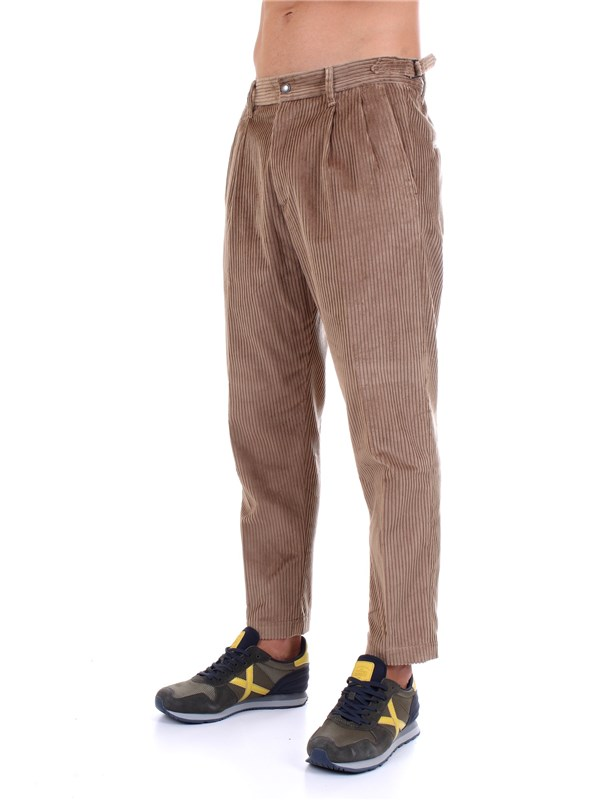 Officina36 0201407180 Beige Clothing Man Trousers