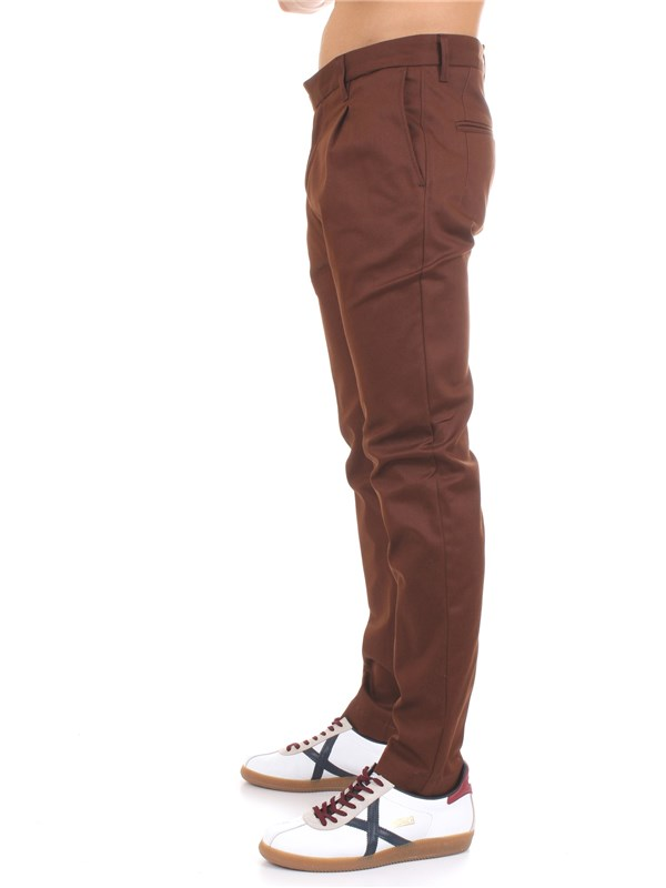 Officina36 0203507193 Brown Clothing Man Trousers