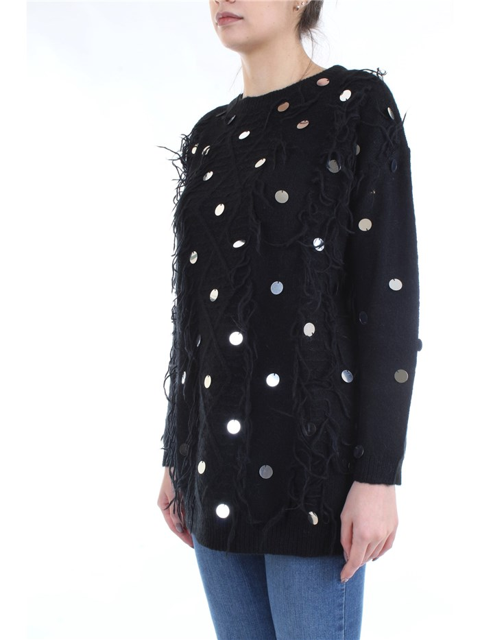 LE COEUR TWINSET 192ST3020 Black Clothing Woman Sweater