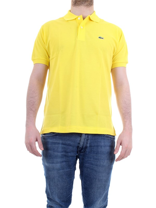 Lacoste L.12.12 lime Clothing Man Polo shirt