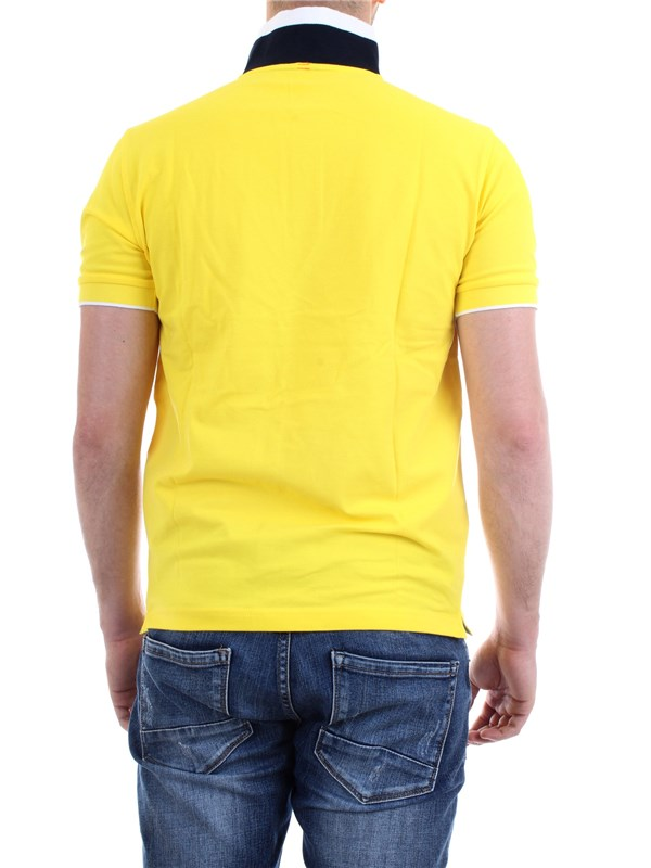 SUN68 A30118 Yellow Clothing Man Polo shirt