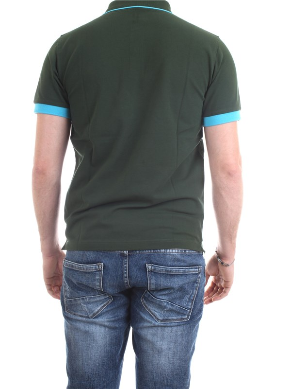 SUN68 A30114 Green Clothing Man Polo shirt