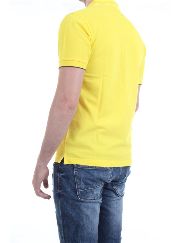 SUN68 A19106 Yellow Clothing Man Polo shirt