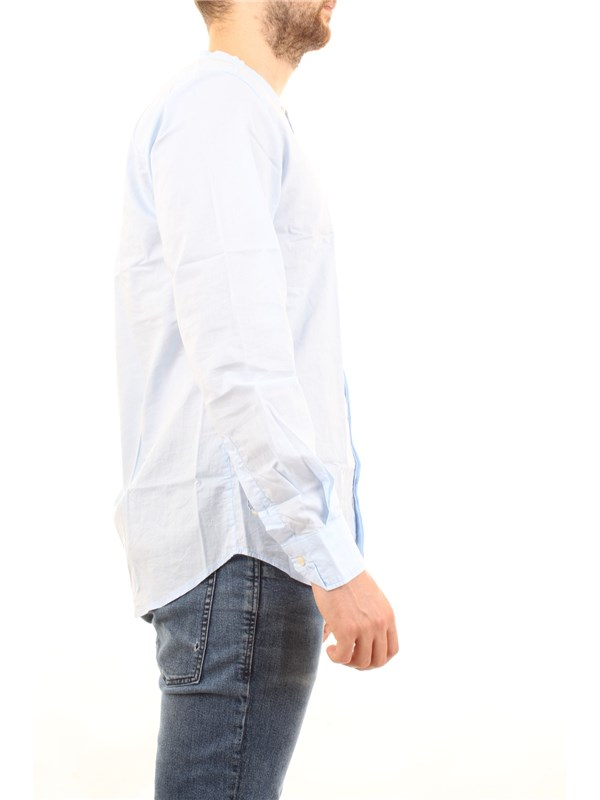 Officina36 0372707652 Light blue Clothing Man Shirt