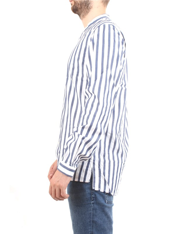Officina36 0383607644 Blue Clothing Man Shirt