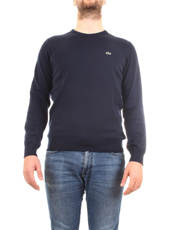Lacoste AH3467-00 Blue Clothing Man Sweater