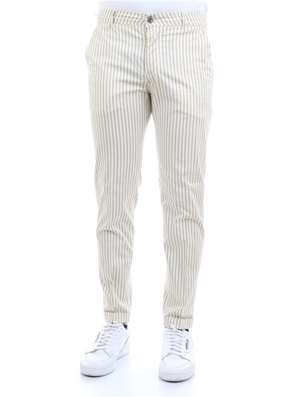 CAMOUFLAGE CHINOS SAND N10 Beige Clothing Man Trousers