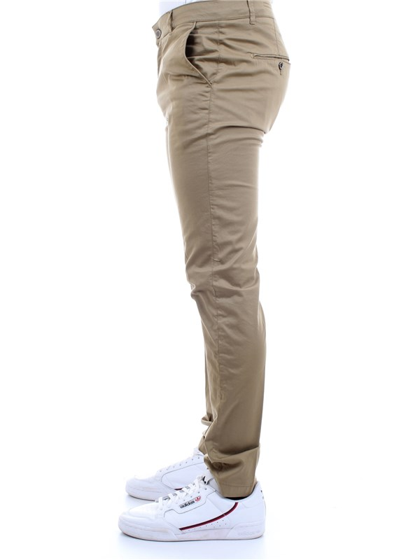 CAMOUFLAGE CHINOS REY 17ZIP Beige Clothing Man Trousers