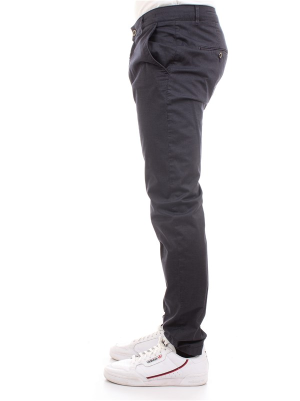 CAMOUFLAGE CHINOS REY 17 ZIP F47 Blue Clothing Man Trousers