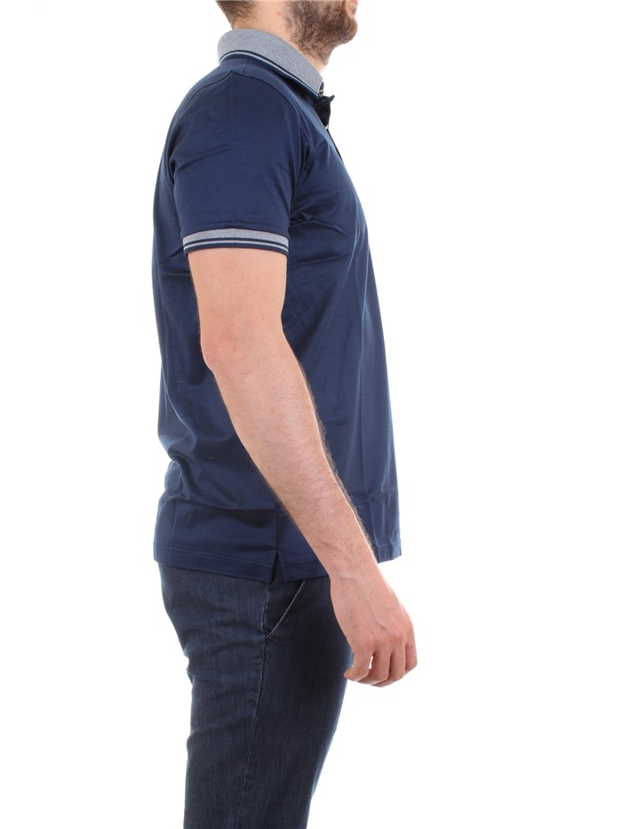 Gran Sasso 60144/74055 Blue Clothing Man Polo shirt