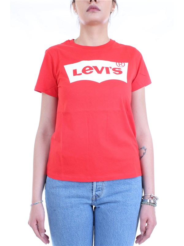 LEVI'S 17369 0792 Red Clothing Woman T-Shirt/Polo