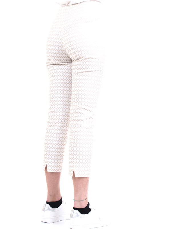 Cappellini By Peserico MH4863 White Clothing Woman Trousers
