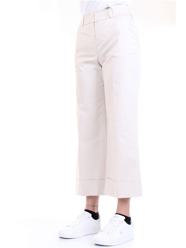 Cappellini By Peserico M04772 Beige Clothing Woman Trousers