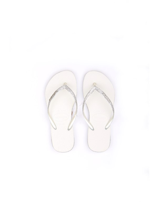HAVAIANAS HAV SLIM SPARKLE FC White Shoes Woman Thongs