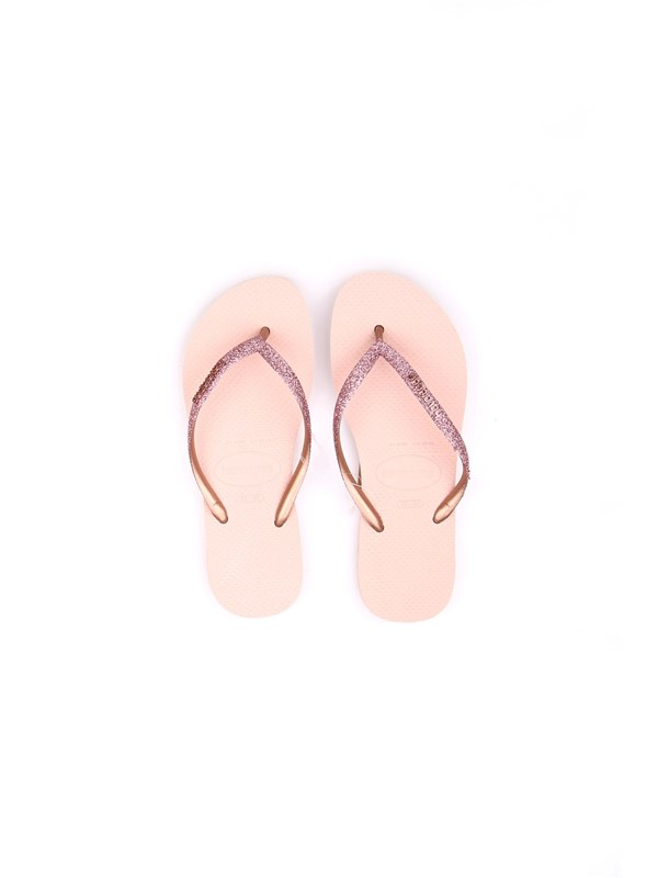 HAVAIANAS H SLIM GLITTER Pink Shoes Woman Thongs