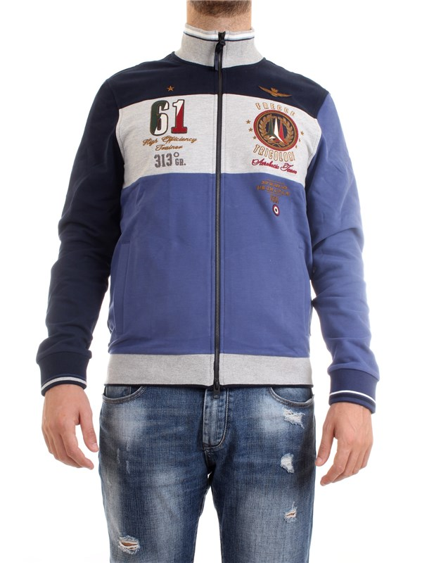 AERONAUTICA MILITARE 202FE1576F418 Ink Clothing Man Sweater