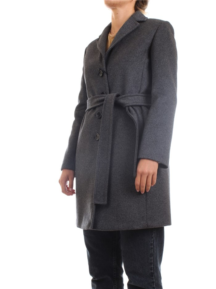 PENNYBLACK 20140320 Dark gray Clothing Woman Overcoat