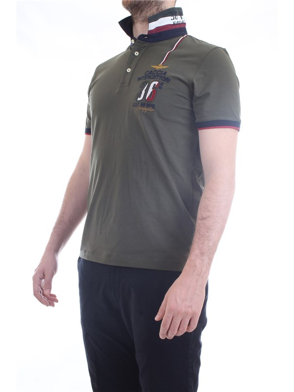AERONAUTICA MILITARE 211PO1558JR469 Military green Clothing Man Polo shirt