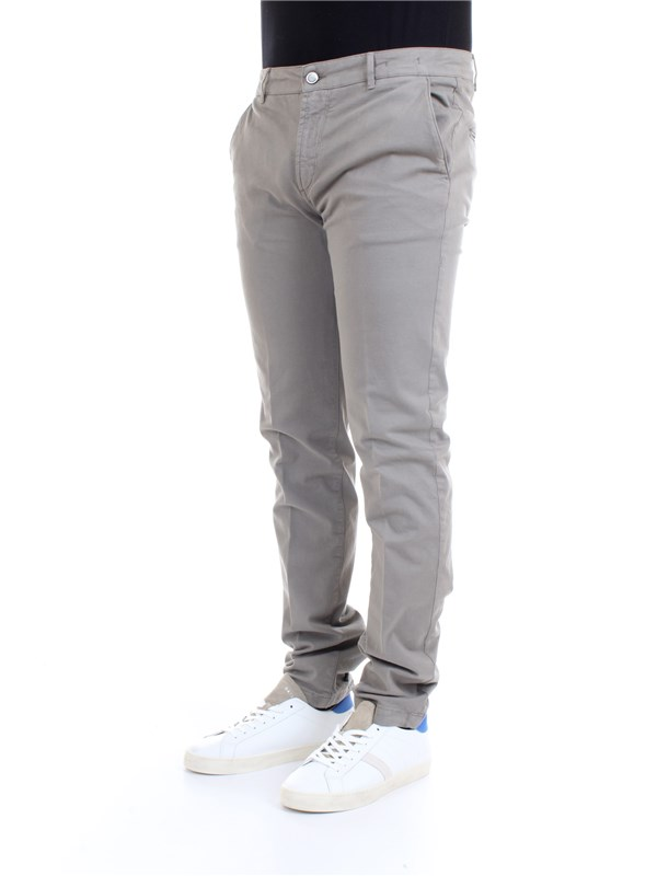 CAMOUFLAGE CHINOS REY 17 N28 Grey Clothing Man Trousers