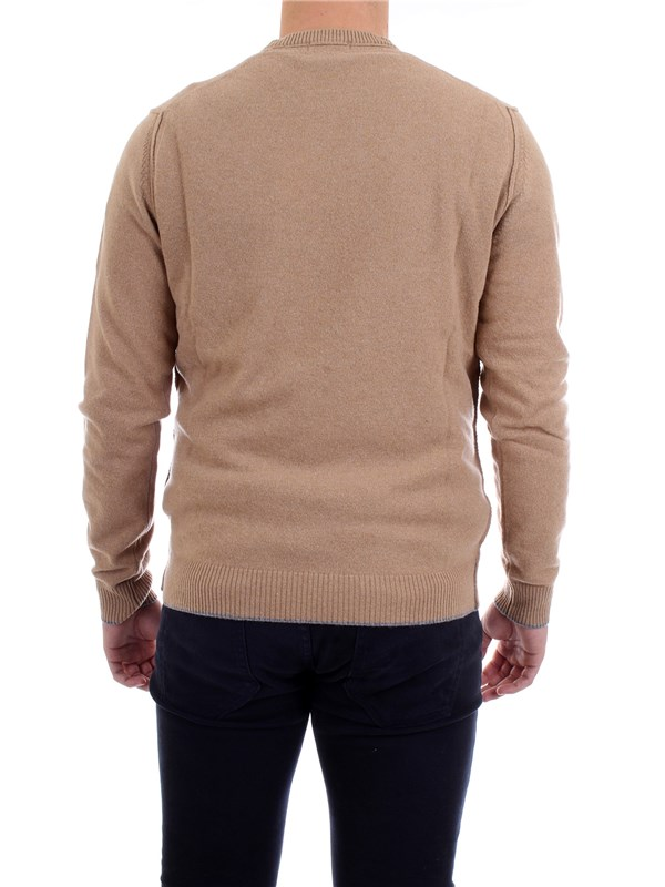 WOOLRICH WOMAG1802 Beige Clothing Man Pullover