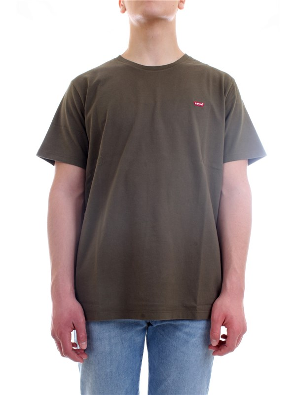 LEVI'S 56605 Military green Clothing Man T-Shirt/Polo
