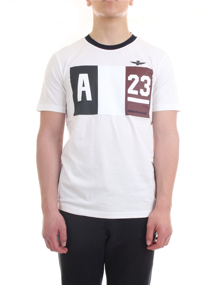 AERONAUTICA MILITARE 211TS1866J492 White Clothing Man T-Shirt/Polo