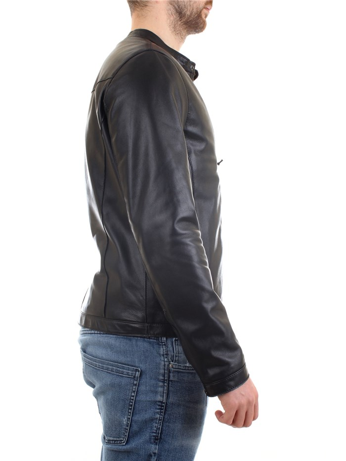 EMANUELE CURCI LUCA Black Clothing Man Jacket