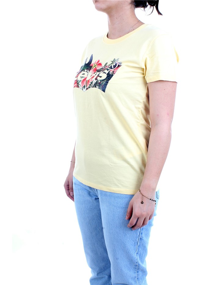 LEVI'S 17369 1264 Yellow Clothing Woman T-Shirt/Polo
