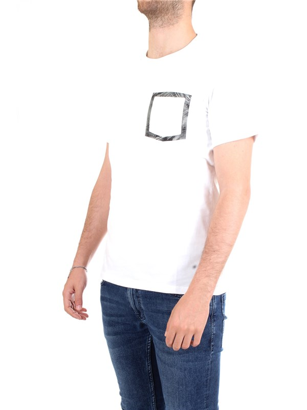WOOLRICH WOTEE1153 White Clothing Man T-Shirt/Polo